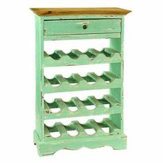 Auburn Turquoise Single-drawer Wine Cabinet - Overstock™ Shopping - Great Deals on Antique Revival Wine Racks