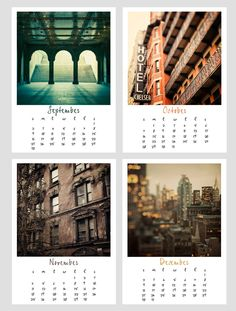 2012 Calendar, New York City, Photography Calendar, NYC Photographs- Empire State of Mind