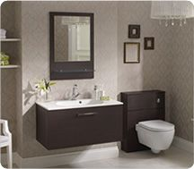 gloss white fitted bathroom furniture 1500mm package | bathrooms