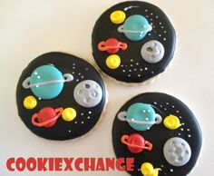 Space Decorated Cookies Favors Themed Party The by CookieXchange, $25.00