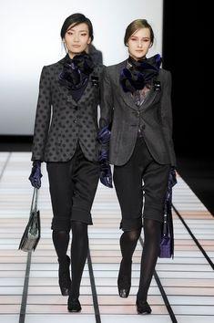 Love the oversized flower & polkadot jacket. Emporio Armani Fall 2012 #MFW