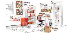 Shop by Dorm - Orange & Pink Color Scheme #dorm