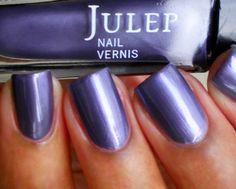 Julep Alfre swatched on sticker on lid. $6 shipped. Pretty frosty/metallic purple