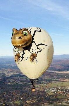 Flying Balloon, Love Balloon, Big Balloons, Balloon Rides, Hot Air Balloons, Albuquerque Balloon Festival, Air Balloon Festival, Balloons Galore, Baby Dino