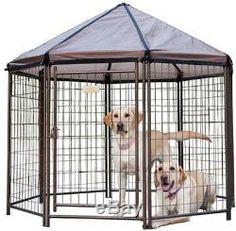 Outdoor 60 Gazebo Pet Pen Dog House Backyard Patio Kennel Cage Fence Exercise