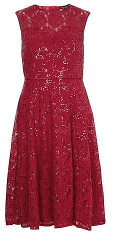 Womens cherry midi dress from Dorothy Perkins - £45 at ClothingByColour.com Pink Midi Dress, Raspberry, Formal Dresses, Red, Cherry, November, Clothes, Color, Women