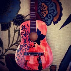 Acoustic Guitar art and design Custom unique by jHcDesiGns29, $300.00 its beautiful. i don't know how to play but reallllyyyy want to learn!