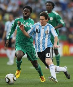 Argentina secured their spot in the round of 16 after a thrilling 3-2 victory over Nigeria. Leo Messi scored a brace including a superb free kick just before half time, even though Nigeria went down they qualified for the next round. by http://www.echunav.com/