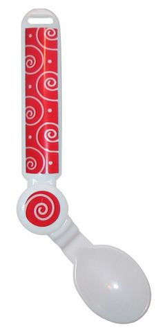 Rotating spoon - great for kids with limited dexterity.  Visit pinterest.com/arktherapeutic for more #feedingtherapy ideas