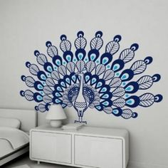peacock wall