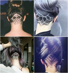 This is the BEST collection of mens undercuts EVER! Undercut Tattoos, Undercut Hair Designs, Hair Tattoos, Short Shaved Hairstyles, Undercut Hairstyles, Pretty Hairstyles, Pelo Mohawk, Pelo Retro, Shaved Hair Designs