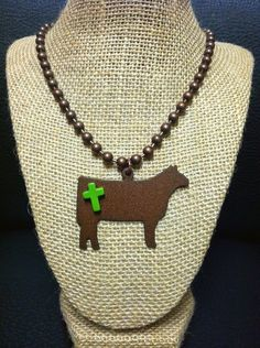 Rustic Copper Show Cattle Necklace | Showring Silhouettes