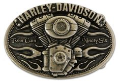 Harley-Davidson® Mens Collector Belt Buckle Twin Cam 96 Motorcycle. M10075