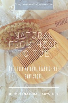 Shop plastic-free essentials for baby at Simply Natural Baby Store™. Pictured:: Rhoost™ Baby Brush + Comb Set.