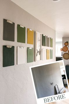 Are you looking for a fun and creative way to display your kid's art? Learn these easy steps for hanging clipboards on your wall! It's a great way to organize too! #walldecor #kidsart #DIY Hanging Kids Art, Kids Art Galleries, Clipboard Wall, Wall Decor Crafts, Displaying Kids Artwork, Cottage Style Decor, Clipboards, Craft Ideas, Decor Ideas