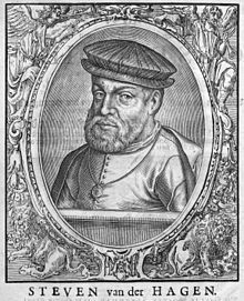 Steven van der Hagen (Amersfoort, 1563 - 1621), also spelled as Haghen or Verhagen, was the first admiral of the VOC.