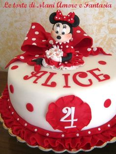 Torta decorata Minnie   torte decorate   torte disney  torte bambina