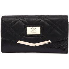 Kardashian Kollection 3350 Black Wallet ($36) ❤ liked on Polyvore