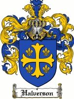 The Danish and Norwegian surname of HALVERSON was a baptismal name 'the son of HALVOR' meaning one who was firm, one with prudence. The name...