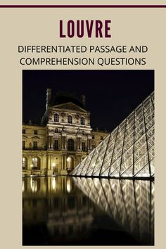 November 8, 1793, the Louvre Museum in Paris was opened to the public. Students read about the Louvre in the differentiated passages. Use the questions in standardized test format to check comprehension and help students prepare for high-stakes testing. High Stakes Testing, Standardized Test, Middle School Grades, November 8, Comprehension Questions, Reading Passages, Student Reading, Differentiation, Students