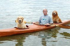 This man fashioned a kayak for his 2 best friends. | 36 Animal Moments That Changed The World In 2015