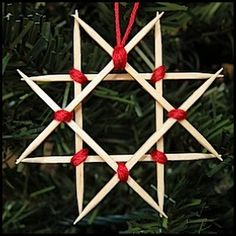 Wooden Star Ornament From Toothpicks