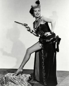 0 Betty Grable with a gun