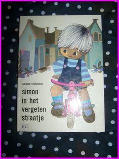 Simon met tekeningen van Jaklien Moerman