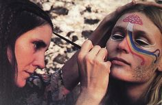 Mushroom Face || face paint || hippies || 1960's || vintage || love stoned