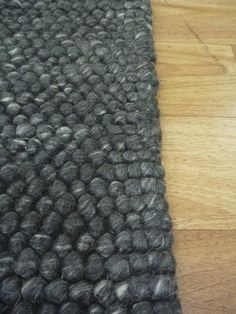 Hand Knotted NZ Wool Chunky Loop Ball Pile Charcoal Romance Textured Floor Area Rug - Scattermats