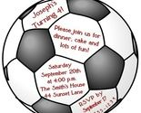 Soccer Ball Birthday Invitation - In the shape of a circle