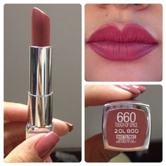Maybelline 660 touch of spice New Maybelline Makeup Lipstick Maybelline Matte Lipstick, Superstay Maybelline, Makeup Lipstick, Touch Of Spice Lipstick, Red Lipstick Quotes, Make Up Dupes, Color Sensational, Lipstick Shades, Lipsticks