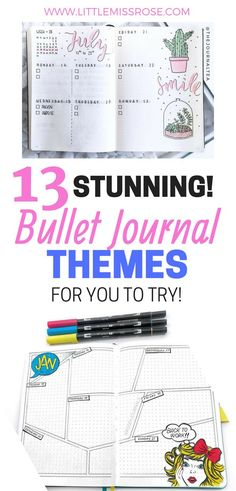 Have a look at these amazing bullet journal themes you can try in your own bullet journal. There's more than one for every month! #bulletjournal #bujo #themes #Bujoideas