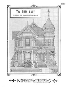 Schema punto croce The Pink Lady 02