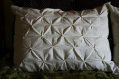 Pin-tucked pillow tutorial.  Looks easy quick.