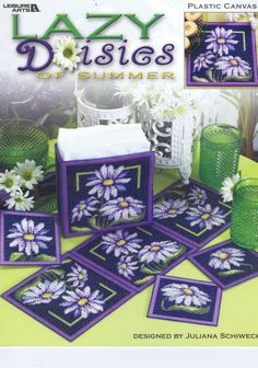 """""""Lazy Daisies of Summer"""" Plastic Canvas (Juliana Schiweck)"""