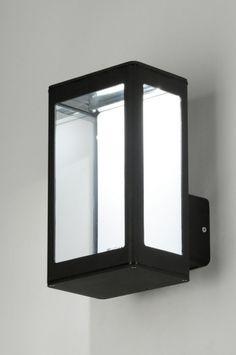 Wandlamp 71490: Modern, Design, Aluminium, Glas