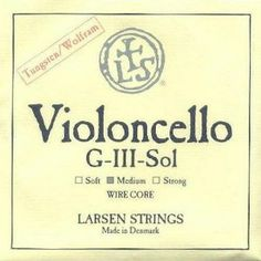 Larsen Cello Tungsten Wound G String - 4/4 size - Medium Gauge by Larsen. $110.53. Now available in fractional sizes! As close as possible to the musical virtues of the classical gut string. Deep beautiful sonority, distinct clarity, clear attack and immediate response.