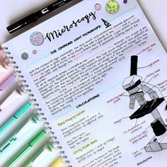 biology notes microscopy study notes with super cute diagram . Cute Notes, Pretty Notes, Good Notes, School Organization Notes, Study Organization, College Notes, School Notes, Science Notes, Science Room