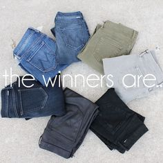 Announcing the Mother Denim GIVEAWAY WINNERS... congratulations to our in-store winner Amal Zeini, online winner Kezia Toth, and our Instagram winner @brilaurel100! Email customercare@dianiboutique.com to claim your FREE pair of amazing Mother jeans! #DIANIlovesmother #dianiboutique #contest #freejeans #winner