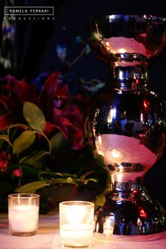 Candles can create incredible lighting and ambiance for any event! weddings | private events | event planner | party planner | PamelaFerrariProductions.com Decoration, Kitchen Appliances, The Incredibles, Events, Candles, Canning, Weddings, Lighting, Create