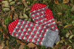 Knitted Mittens Pattern, Knit Mittens, Knitted Gloves, Knitting Socks, Knitting Patterns, Knit Socks, Knitting Ideas, Handicraft, Stuff To Do