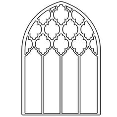 Picturesque Grand Gothic Luminary Window Idea By Memory Box - Use J/K to navigate to previous and next images