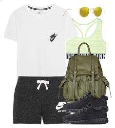 Untitled #3487 by hellomissapple ❤ liked on Polyvore featuring NIKE, Ray-Ban, Topshop and adidas