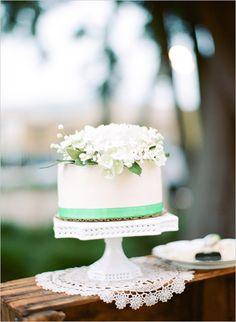 mint wedding cake. perfect for the small wedding cake & cupcake display.