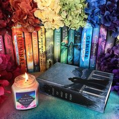 Its so hard to choose between the ToG series and ACOTAR. On one hand...you have the witchling and the princeling....who I love. On the other.....you have the inner circle. Impossible choice I tell you! Which series do you prefer?  Rainbow of Velaris candle by @noxtolumoscandleco Use my code TINE20 for 20% off.  Hand-painted Book by @paintedpagesshop  Day 13: #lilthisorthat {ToG or ACOTAR} I love both but I had to go with ACOTAR series because of the inner circle and Velaris…