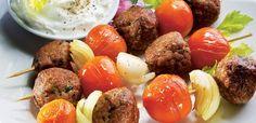 Mięsne kulki z dipem z selerem naciowym Dip, Ethnic Recipes, Food, Salsa, Meal, Essen, Dips, Hoods, Meals