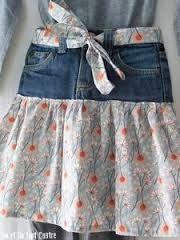 """Résultat de recherche d'images pour """"transformer un jean en jupe"""""""