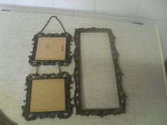 Frames - (JAI) 2x VINTAGE METAL ITALIAN FRAMES -no glass, one no backing size 28x13cm for sale in Scottburgh (ID:325261786) Vintage Metal, Frames, Glass, Home Decor, Decoration Home, Drinkware, Room Decor, Frame, Corning Glass