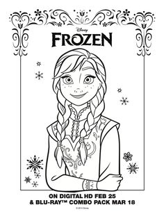 Anna frozen coloring page